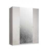 Шкаф 4-х ств. для платья и белья (с зеркалами)